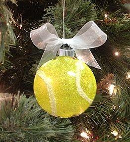 Kerst tennisbal
