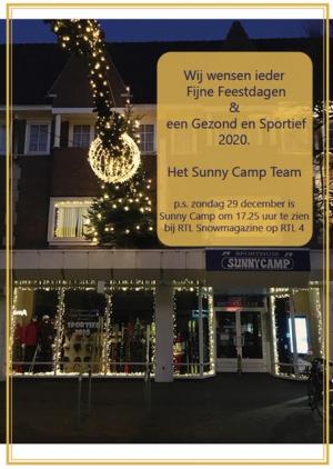 Kerstkaart Sunny Camp